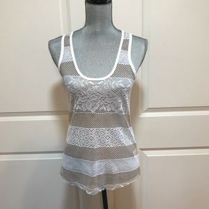 Buffalo David Bitton All Crochet Lace Tank Top